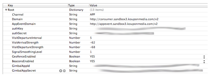 How to configure your .plist to include the Koupon Media Offers SDK